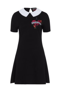 FEARLESS EMBROIDERY WEDNESDAY DRESS