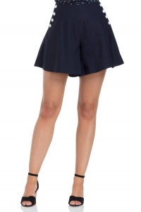 20% OFF POLLY - NAVY SWING SHORTS